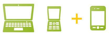 クラウドCMSオールインワン+スマートフォン変換サービス(パソコン+携帯+スマートフォン)